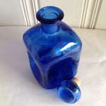 Image of Cobalt Blue Artisan Glass Apothecary Bottle