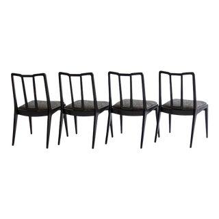 Ebonized John Stuart Dining Chairs - Set of 4