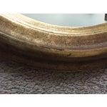 Image of Vintage Gilt Wood Oval Mirror