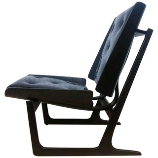 Bentwood & Leather Danish Lounge Chair