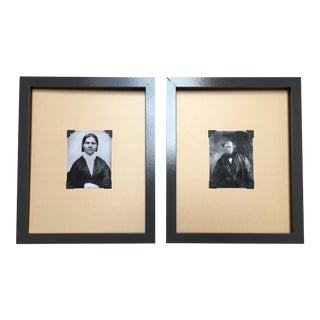 Framed Judges Daguerrotype Prints - A Pair