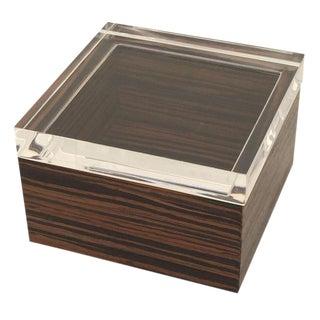 Lucite & Macassar Ebony Jewelry Box