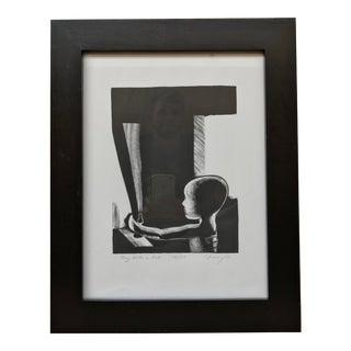 "Robert Franzini ""Boy With Bat"" Intaglio Print"