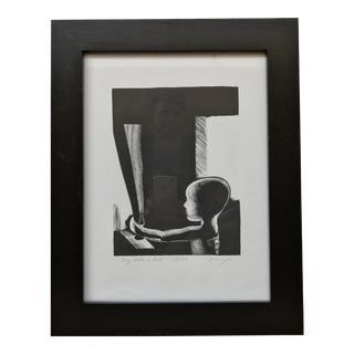 "Robert Franzini ""Boy With Bat"" Intaglio Print"