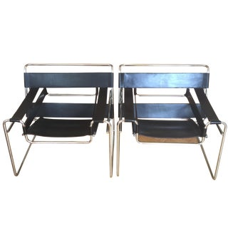 Vintage Marcel Breuer Wassily Chairs - A Pair