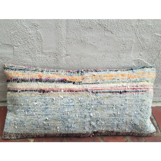 Moroccan Striped Kilim Pillow Cover - Image 3 of 11