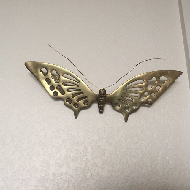 Image of Brass Wall Hanging Butterflies- A Pair