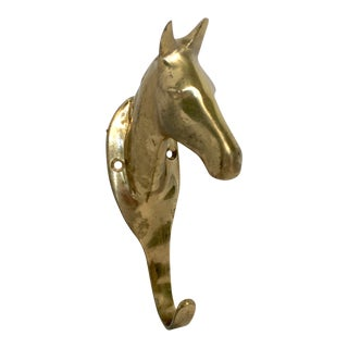 Brass Horse Head Hook