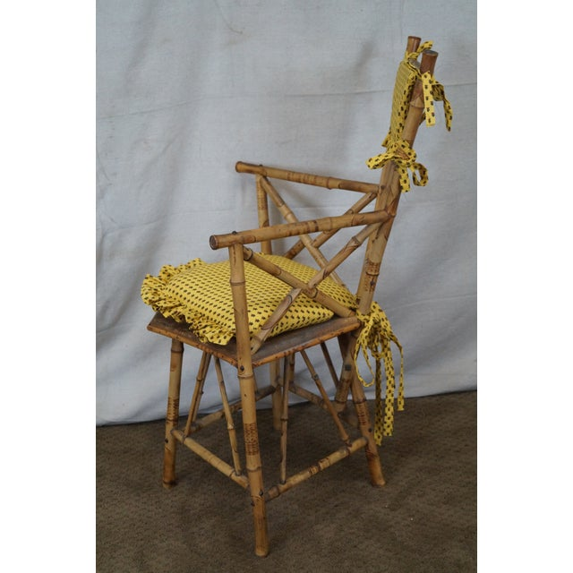 Antique 19th C. Victorian Bamboo Corner Chair - Image 5 of 10