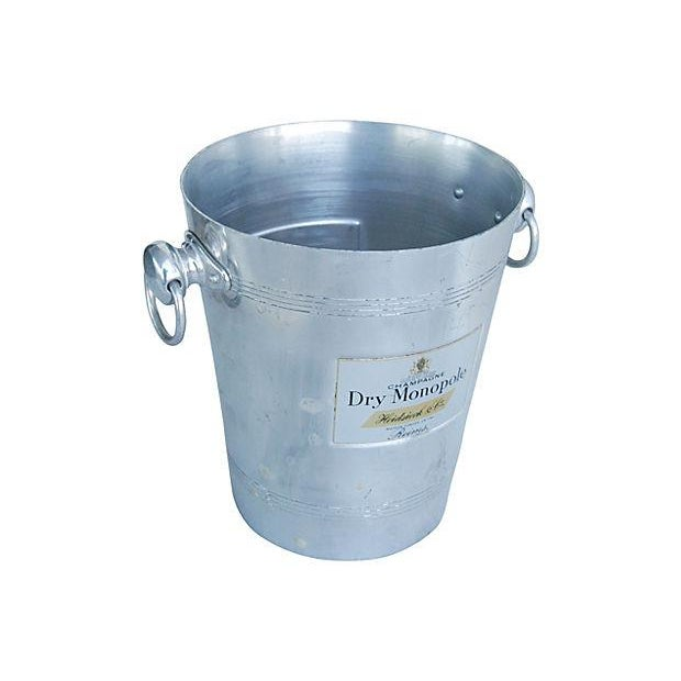 Image of Vintage French 'Dry Monopole Champagne' Ice Bucket