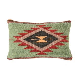 Green Wool Oaxacan Zapotec Pillow