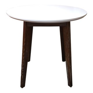 Round White & Wood Dining Height Table