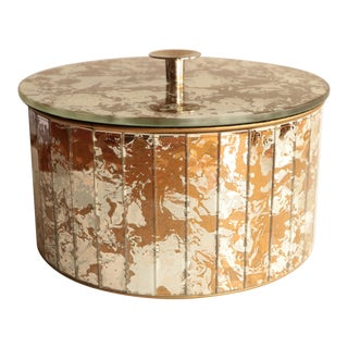 Marbled Golden Swirl Mirrored Box