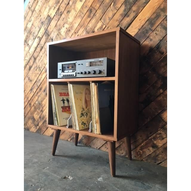 Image of Mid Century Style Mini Credenza Record Stand