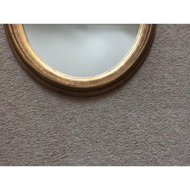 Vintage Gilt Wood Oval Mirror - Image 6 of 8