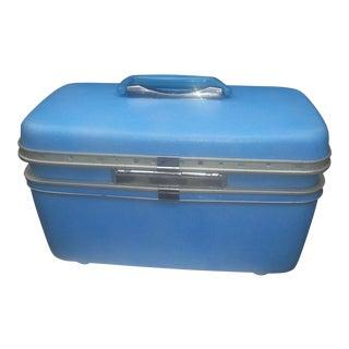 Vintage Blue Train Case by Samsonite