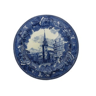 Blue & White Wedgwood Plate