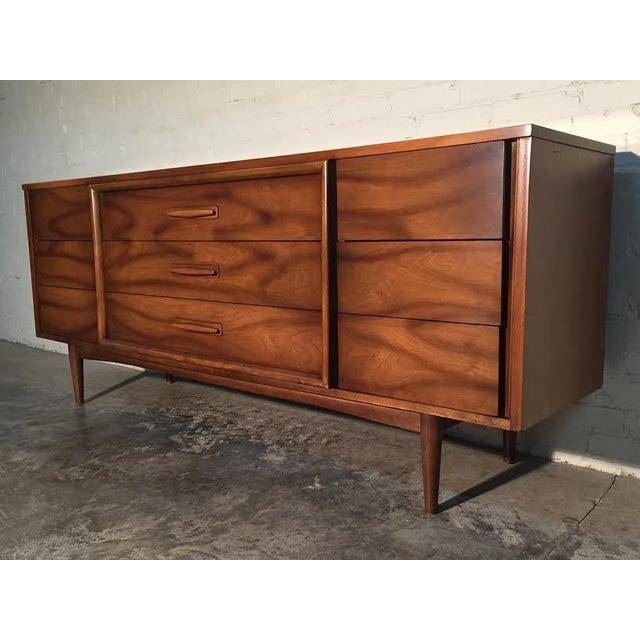Walnut Mid-Century Danish Modern Dresser - Image 11 of 11