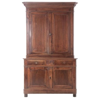 French 19th Century Walnut Louis Philippe Buffet A'Deux Corps