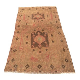 "Vintage Turkish Oushak Area Rug - 3'5""x6'3"""