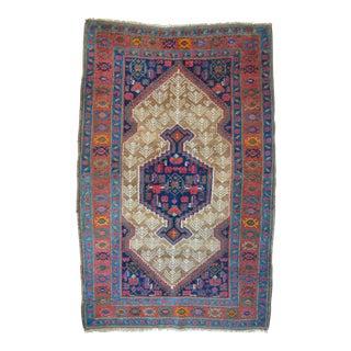 "Vintage Persian Hamadan Rug - 4'1"" X 6'6"""