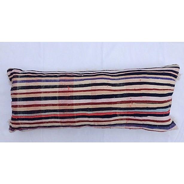 Oversized Moroccan Handira Lumbar Pillow - Image 3 of 7