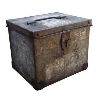 Vintage Industrial Zinc Metal Box