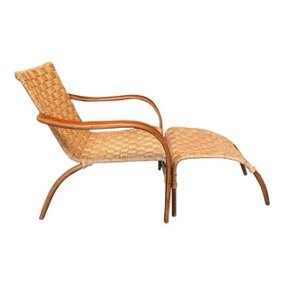Sculptural Bentwood & Rope Lounger
