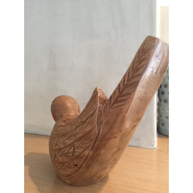 Image of Wood Carved Bird Figurine