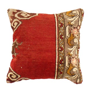 Pasargad Vintage Hand Knotted Red Rug Pillow
