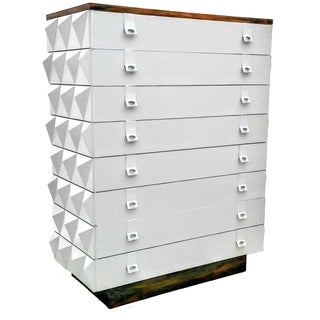 Diamond Brutalist Tall Dresser