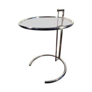 Eileen Gray Vintage Stainless Steel Accent Table
