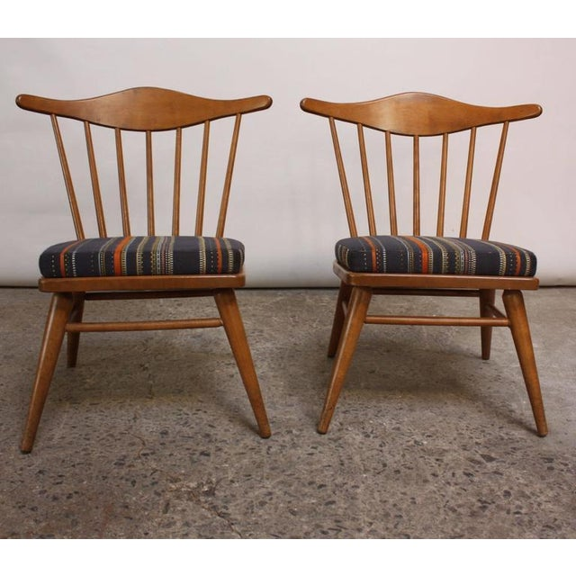 Image of Pair of Conant Ball Spindle-Back Accent Chairs Attributed to Russel Wright