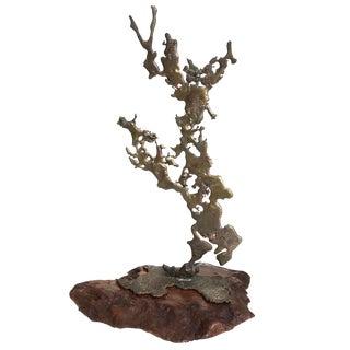 Mid-Century Brutalist Slag Metal Sculpture