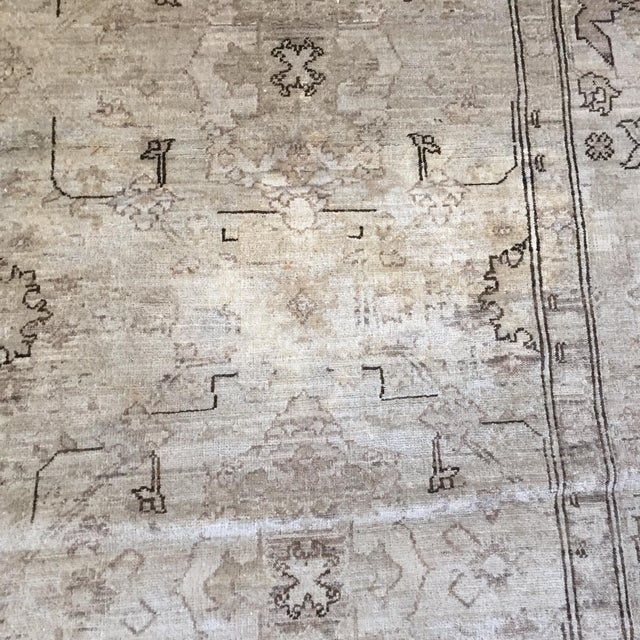 Hand Knotted Wool Oriental Neutral Rug - 8′ × 9′4″ - Image 4 of 4