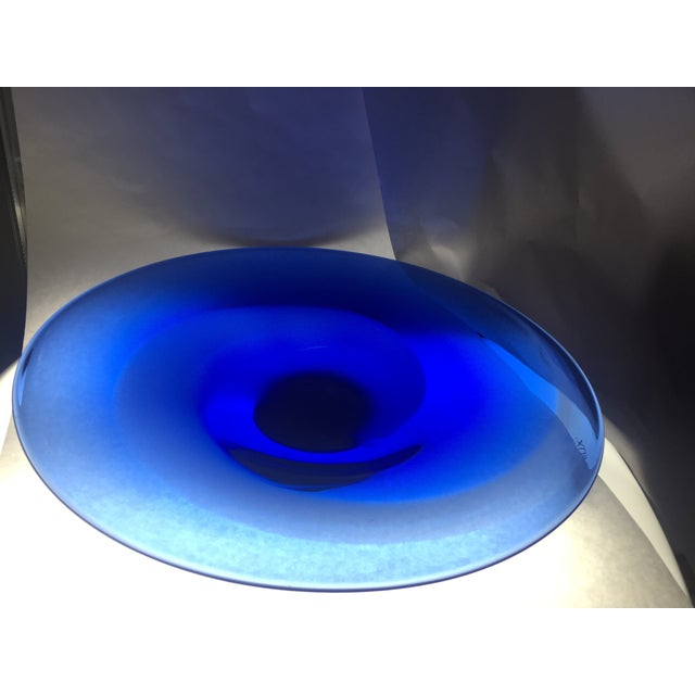 Image of Scandinavian Art Glass Signed Bowl