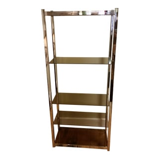 Chrome & Smoke Glass Etagere