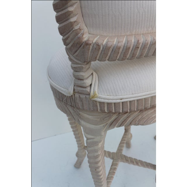 Italian Carved Rope & Tassel Bar Stools -- A Pair - Image 6 of 11