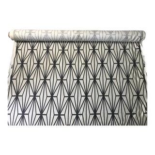 Lee Jofa Black & Ivory Fabric - 10 Yards