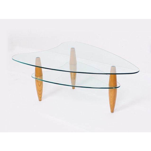 Compact 2-Tier Modernist Glass Coffee Table - Image 2 of 6