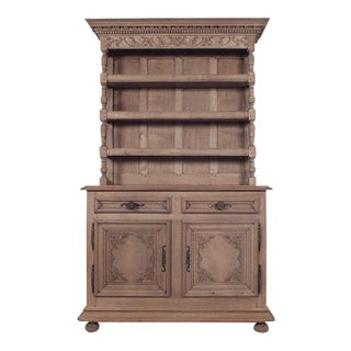French 19th Century Bleached Oak Wood Buffet