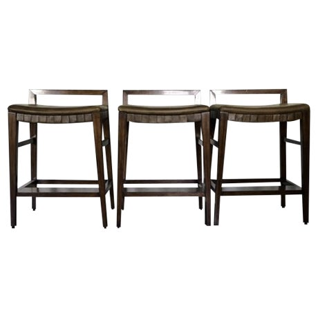Henredon Acquisitions Barstools - Set of 3 - Image 1 of 11