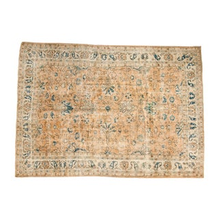 "Distressed Vintage Oushak Carpet - 7'2"" x 10'2"""