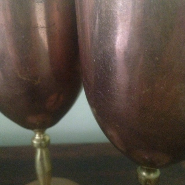 Copper & Brass Goblets - a Pair - Image 8 of 11