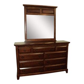 Davis International Cherry Dresser & Mirror
