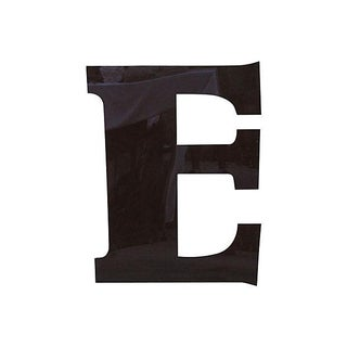 "34"" Salvaged Brown Plexiglass Marquee Letter E"