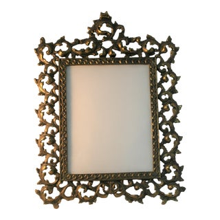 Vintage Brass Rococo Table Top Picture Frame