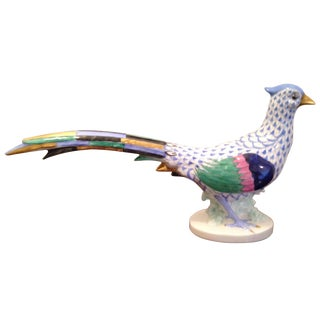 Herend Fishnet Pheasant Figurine