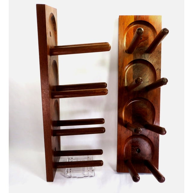 Mid Century Modern Teak Wood Wine Racks - A Pair - Image 2 of 6