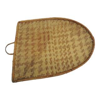 Vintage Indonesian Flat Drying Basket